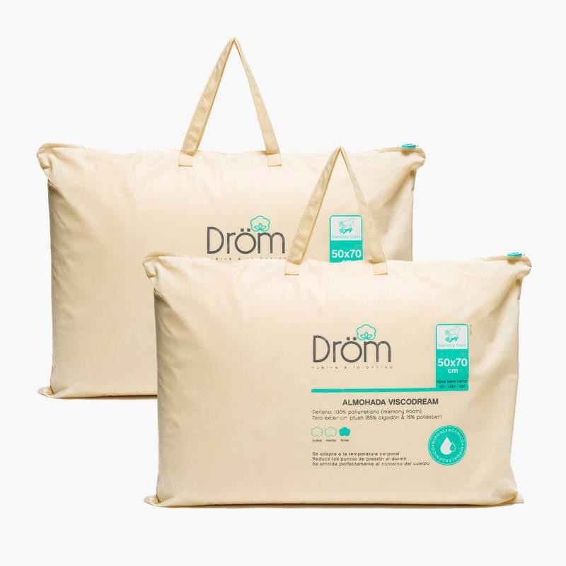DROM - Pack x2 Almohada Viscodream 50x70