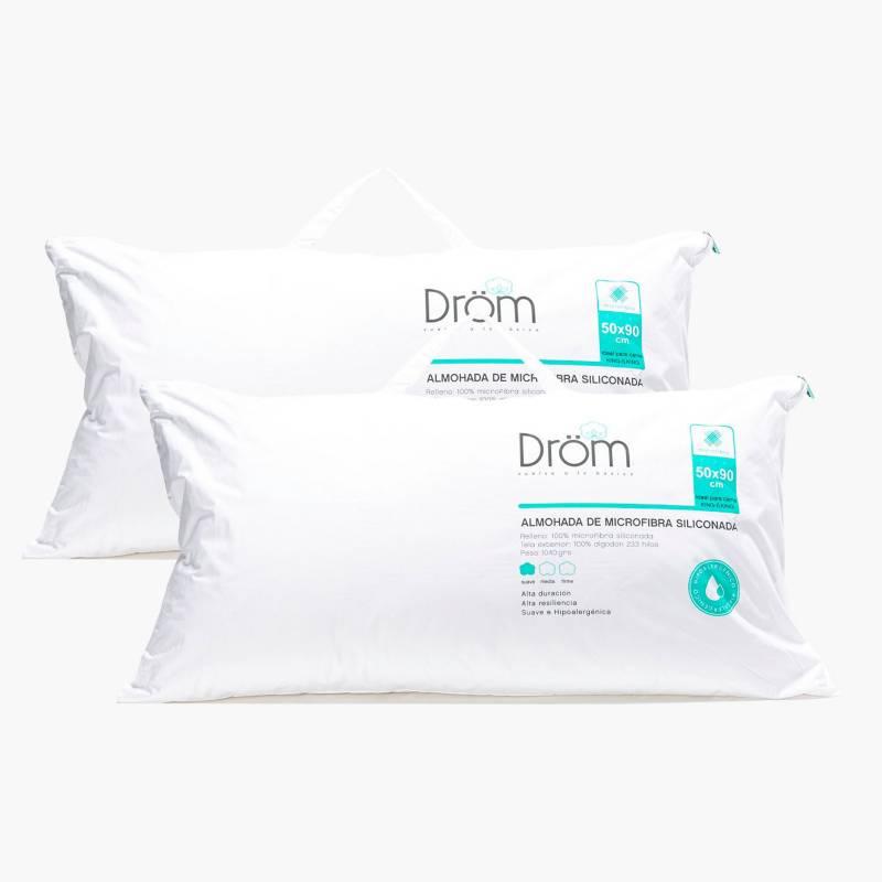 DRÖM - Pack x2 Almohada Microfibra Siliconada 50x90