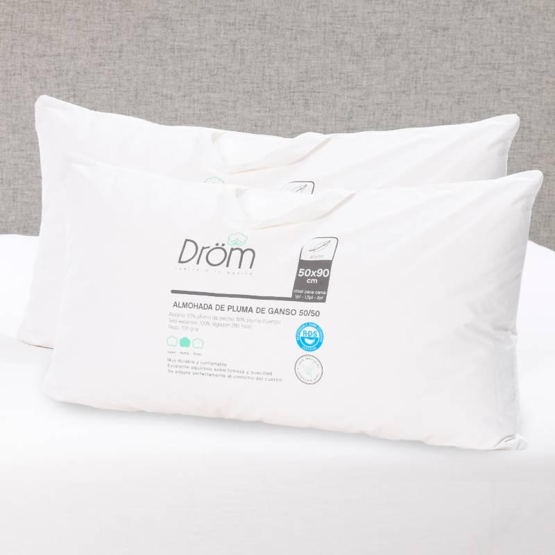 DROM - Pack x2 Almohada Pluma 50/50 50x90