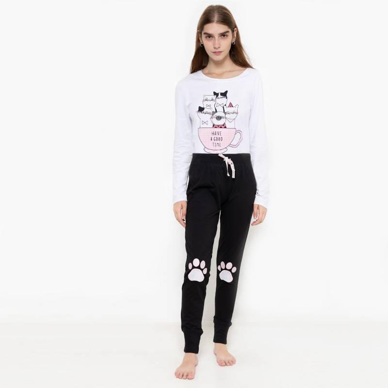 SYBILLA - Pijama Polo Tazas + Jogger Patas
