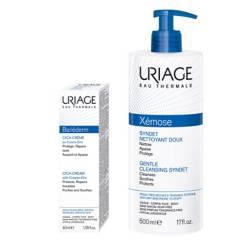 URIAGE - Limpiador Suave Xemose + Crema Reparadora Bariederm