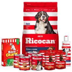 RICOCRACK - Pack Ricocan Cordero y Cereales  Adultos Razas Medianas y Grandes 22Kg