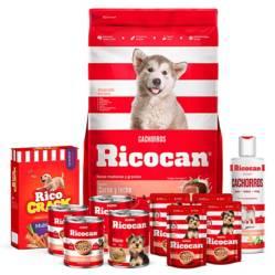 RICOCAN - Pack Ricocan Carne y Leche Cachorros Razas Medianas y Grandes 22Kg