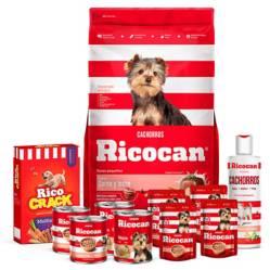RICOCAN - Pack Ricocan Carne y Leche Cachorros Razas Pequeñas 22Kg
