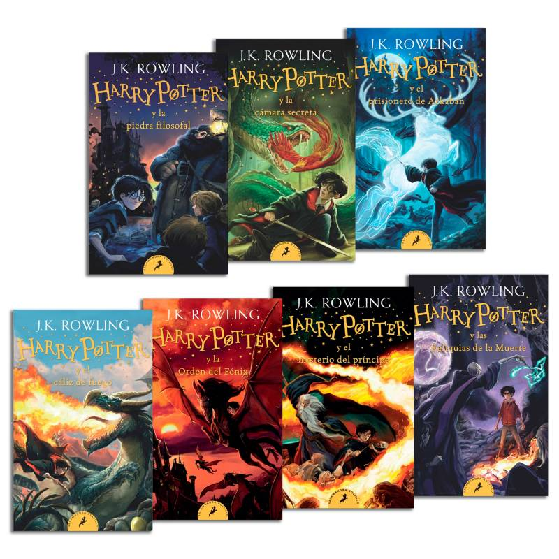 SALAMANDRA DEBOLSILLO - Pack 7 Saga Harry Potter Pocket Version