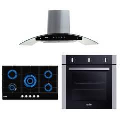 SOLE - Cocina 5 hornillas + Campana + Horno eléctrico 73L Sole