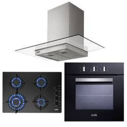 SOLE - Cocina 4 hornillas + Campana + Horno eléctrico 60L Sole