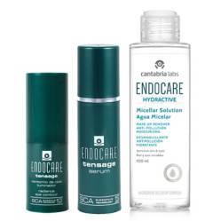 Endocare - Endocare Tensage Serum + Endocare Tensage Cont. Iluminador + Hydractive Agua Micelar 100ml (Gratis)