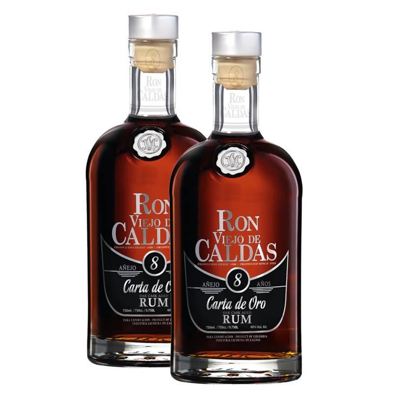 VIEJO DE CALDAS - Pack x 2 Ron Viejo de Caldas 8 años 750ml