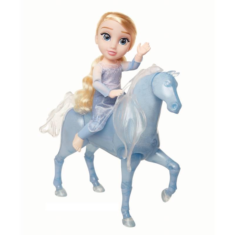 FROZEN - Combo Frozen Muñeca Elsa Articulada + Caballo Agua Con Luces