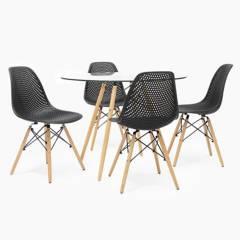 MICA - Juego de Comedor Bilund 4 sillas