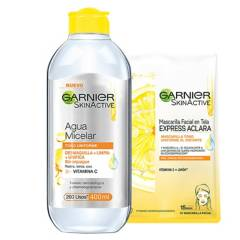 GARNIER SKIN ACTIVE - Pack Hidratante Express Aclara
