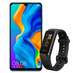 HUAWEI - Combo: Huawei P30 Lite MARIE-L23 Blue Dual Sim + Huawei Band 4 Promocional