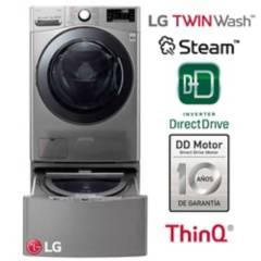 LG - Lavaseca LG WD22VV2S6 LG + Lavadora LG Mini Wash 3.5 kg Inox. Panel digital