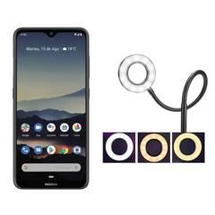 NOKIA - Nokia 7.2 Gris + Aro de Luz