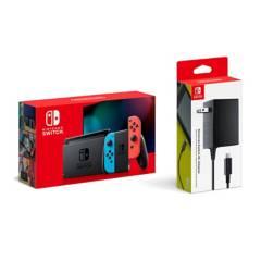 NINTENDO - Consola Nintendo Switch 1.1 Neon + JUEGOS RETRO HAC-A-ADHG