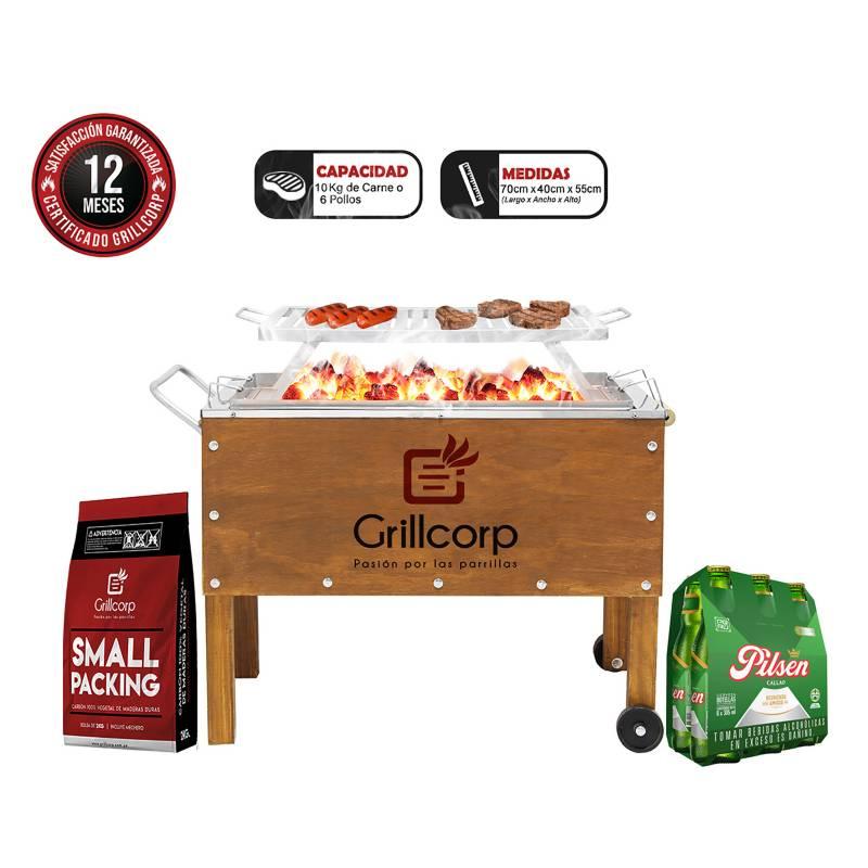 GRILLCORP - Caja China Mediana Premium + Six Pack Pilsen Callao 305ml