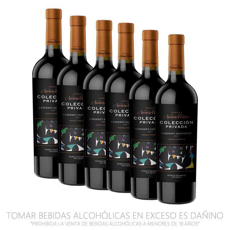 NAVARRO CORREAS - Pack x6 Vino Colección Privada Cabernet Sauvignon 750ml