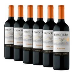 FRONTERA - Pack x6 Vino Frontera Malbec 750ml