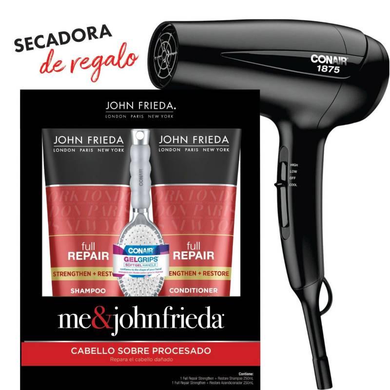 JOHN FRIEDA - JF FR Pack Sh+Aco+Cep Gel+Secadora