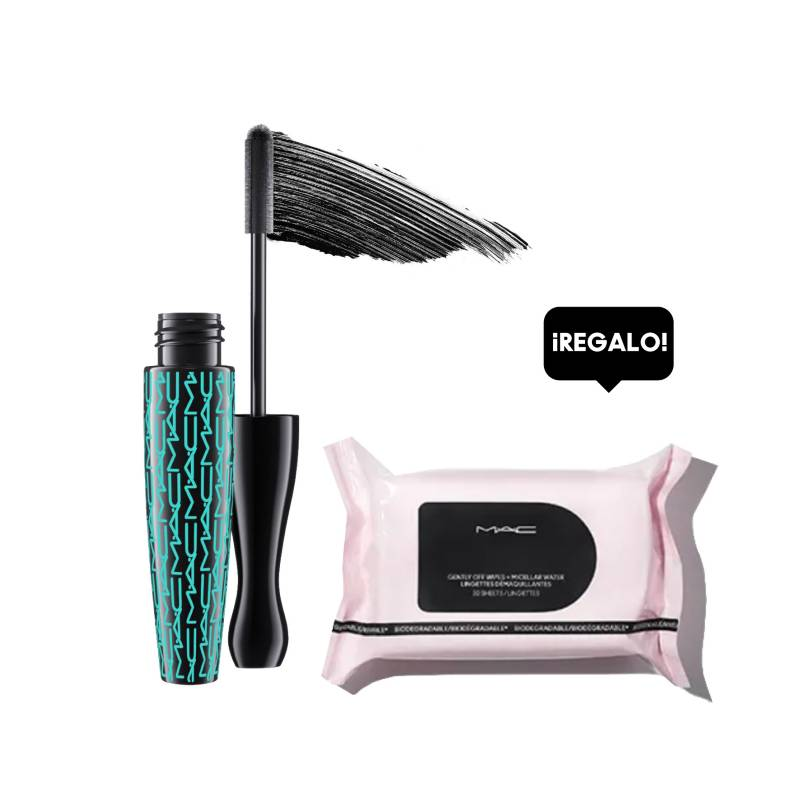 MAC - Máscara In Extreme Dimension Waterproof + Regalo Wipes Micellar Water
