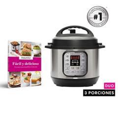 INSTANT POT - Combo: Olla Multifuncional y Olla a Presión Eléctrica Instant Pot Duo mini + Libro de recetas Facil y delicioso