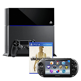 Combo Sony: Consola PS4 500GB Uncharted Collection + Consola PS Vita Wifi