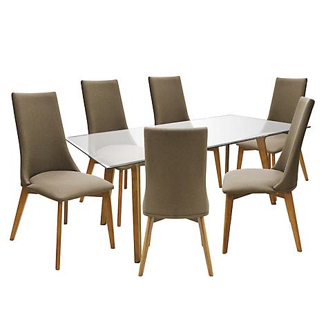 Juego basement home de comedor isaac con 6 sillas for Comedores falabella chile