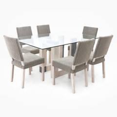 MICA - Juego de Comedor Arezzo 6 sillas