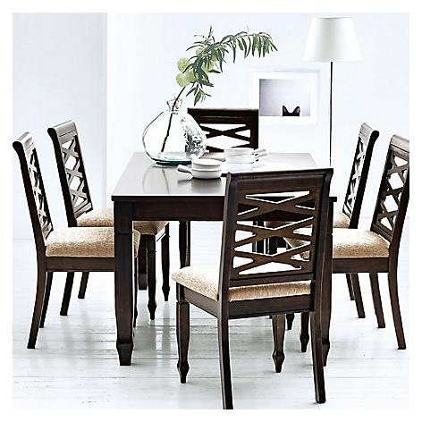 Juego de comedor mica nairobi 6 sillas for Precios de comedores en vidrio