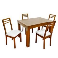 ALIDA - Juego de Comedor Basic 4 sillas