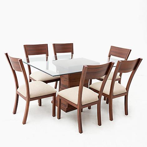 Juego de comedor mica jussara 6 sillas for Comedores falabella chile