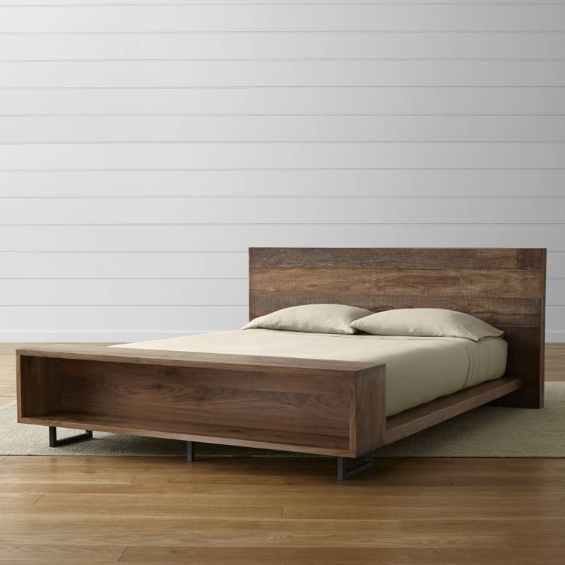 CRATE & BARREL - Cama con Librero Queen Atwood