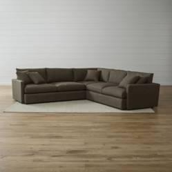 CRATE & BARREL - Sofá Seccional de 3 Piezas Lounge II