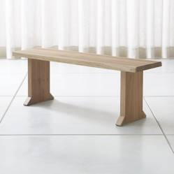 CRATE & BARREL - Banco Dakota de 180 cm