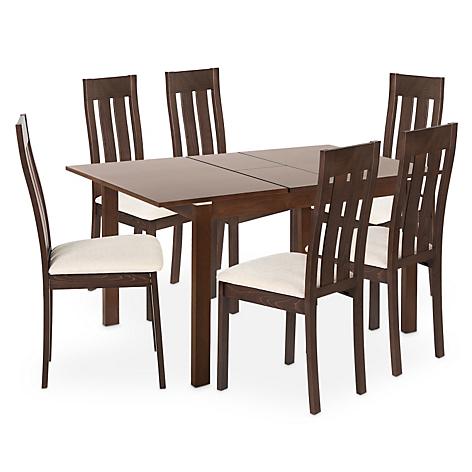 Juego de comedor mica barza 6 sillas for Comedores falabella chile
